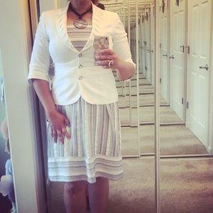 BUNDLE-Loft Dress, WHBM Jacket, Ralph Lauren shoes